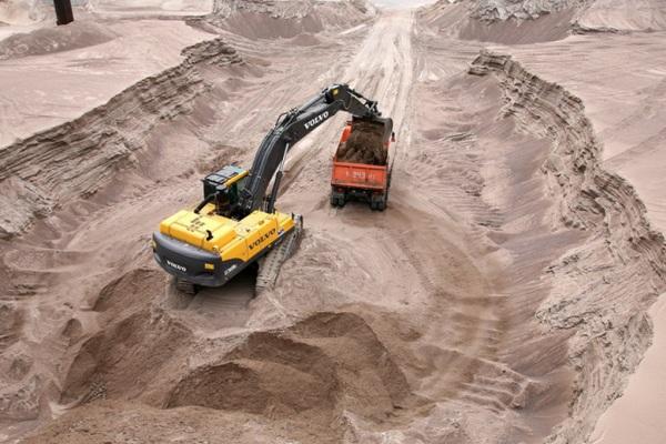 Добыча песка в Великом Новгороде